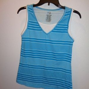 Women's Danskin Now Layered Tank Top Size M